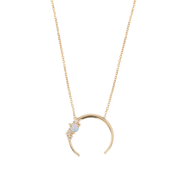 Chroma Opal Aura Necklace Gold | Sarah & Sebastian