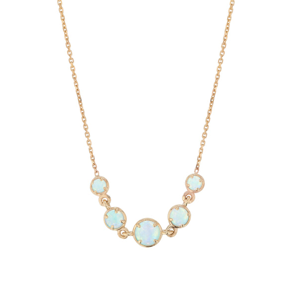 Fine Chroma Opal Chain Necklace Gold | Sarah & Sebastian