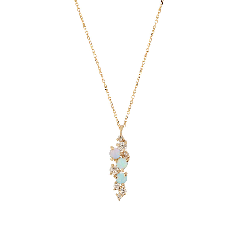 Chroma Opal Necklace Gold | Sarah & Sebastian
