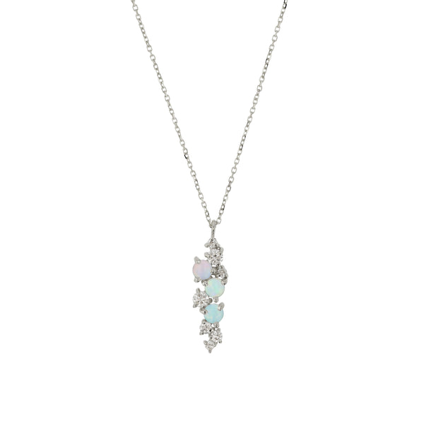 Chroma Opal Necklace White Gold | Sarah & Sebastian