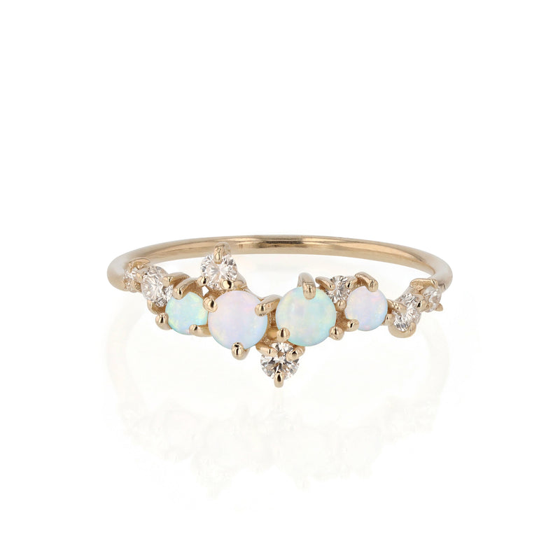 Chroma Opal Ring Gold | Sarah & Sebastian