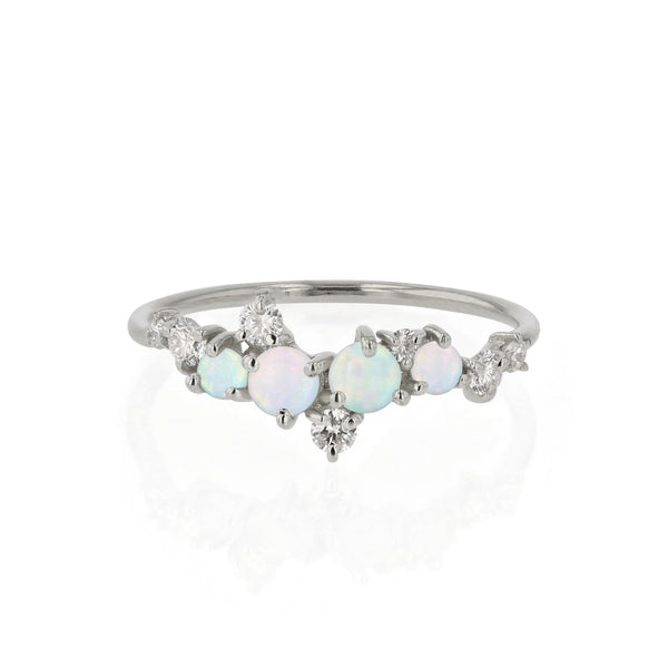 Chroma Opal Ring White Gold | Sarah & Sebastian