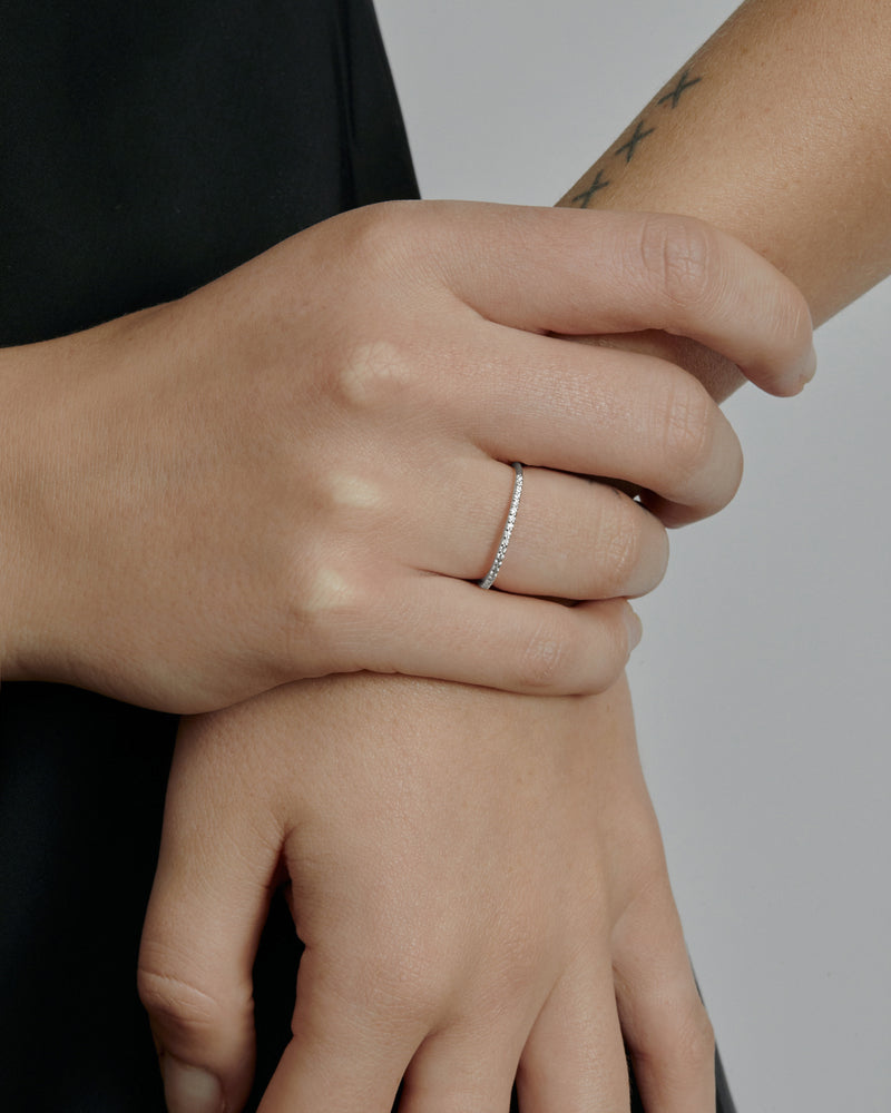 Fine Diamond Demi Ring White Gold | Sarah & Sebastian onBody