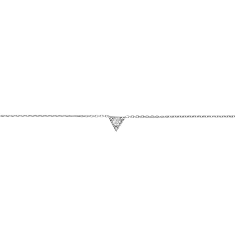 Deco Triangle Diamond Bracelet White Gold | Sarah & Sebastian