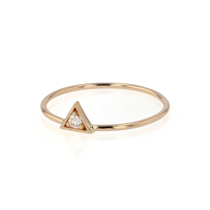 Deco Triangle Diamond Ring Gold | Sarah & Sebastian