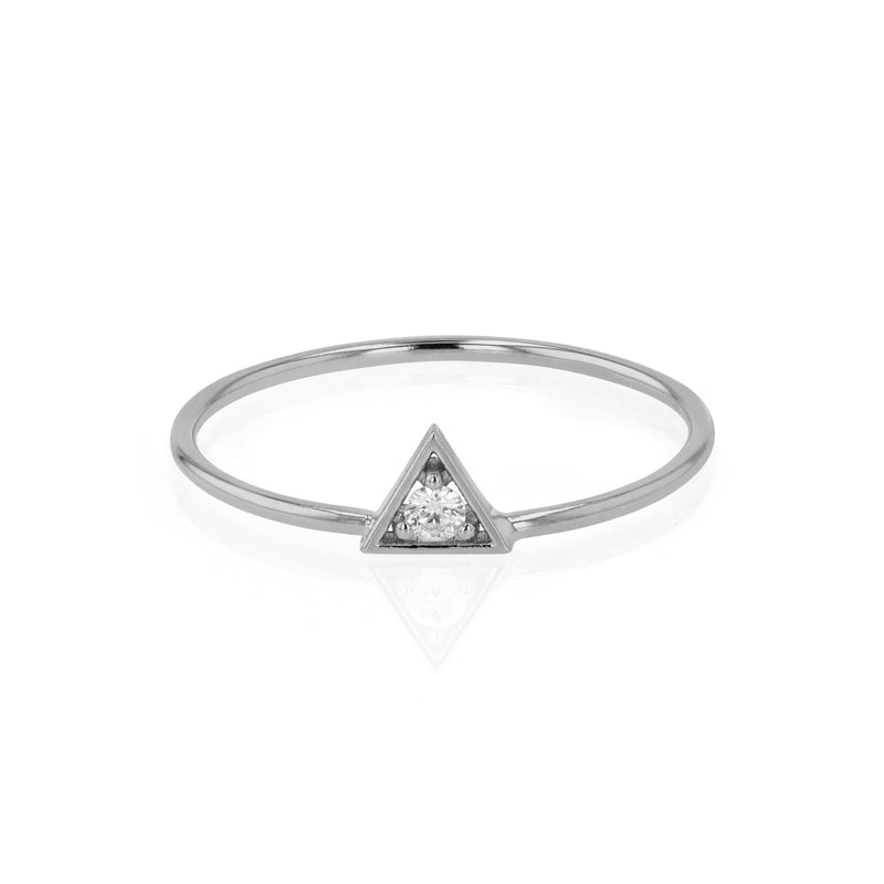 Deco Triangle Diamond Ring White Gold | Sarah & Sebastian