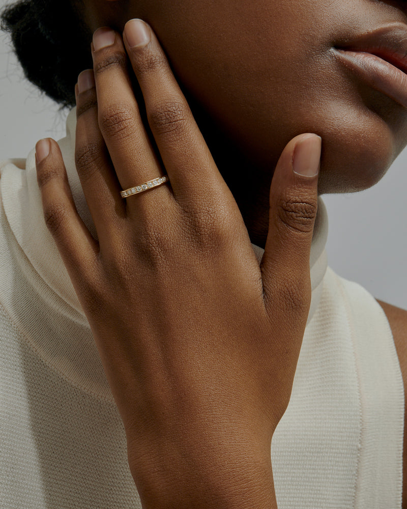 Diamond Channel Ring Gold | Sarah & Sebastian onBody