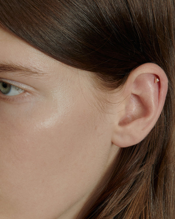 Deco Triangle Diamond Cartilage Earring | Sarah & Sebastian onBody
