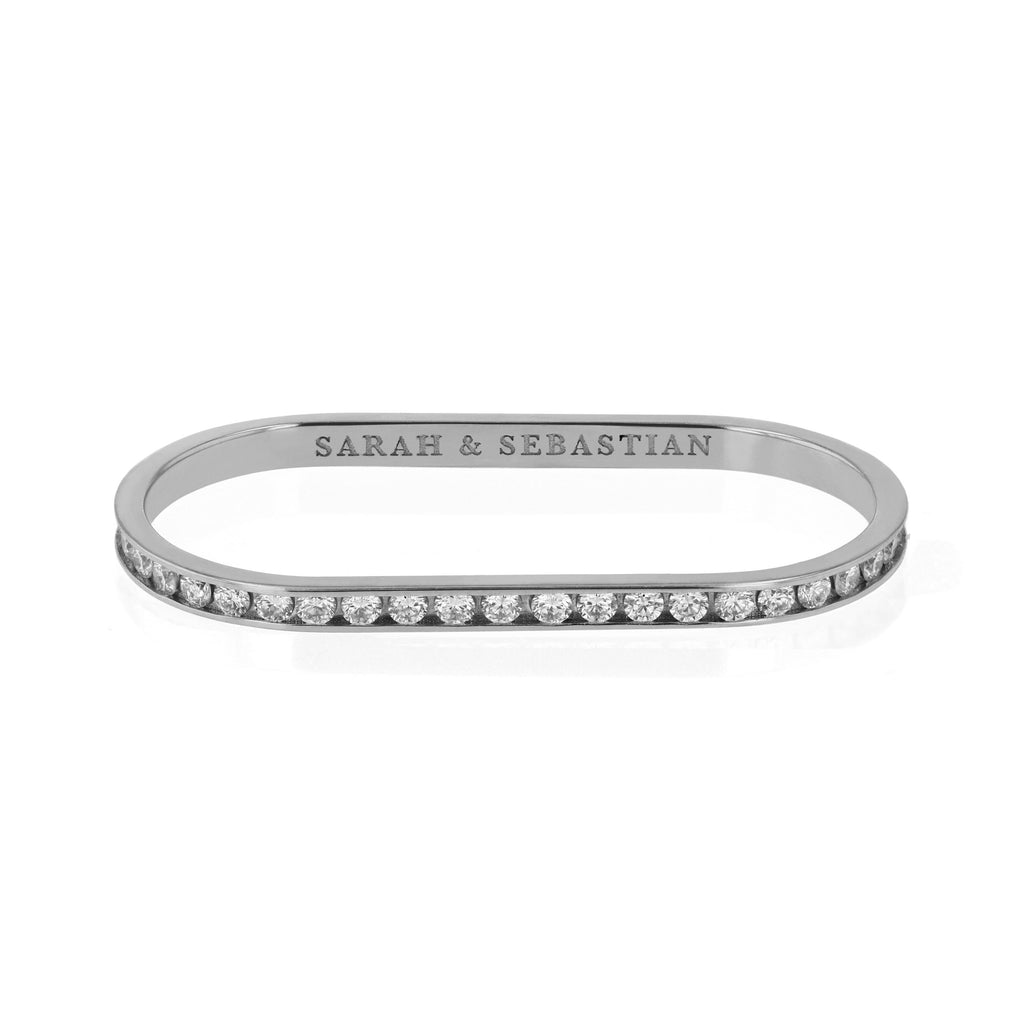 Diamond Channel Two Finger Ring