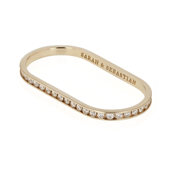 Diamond Channel Two Finger Ring | Sarah & Sebastian