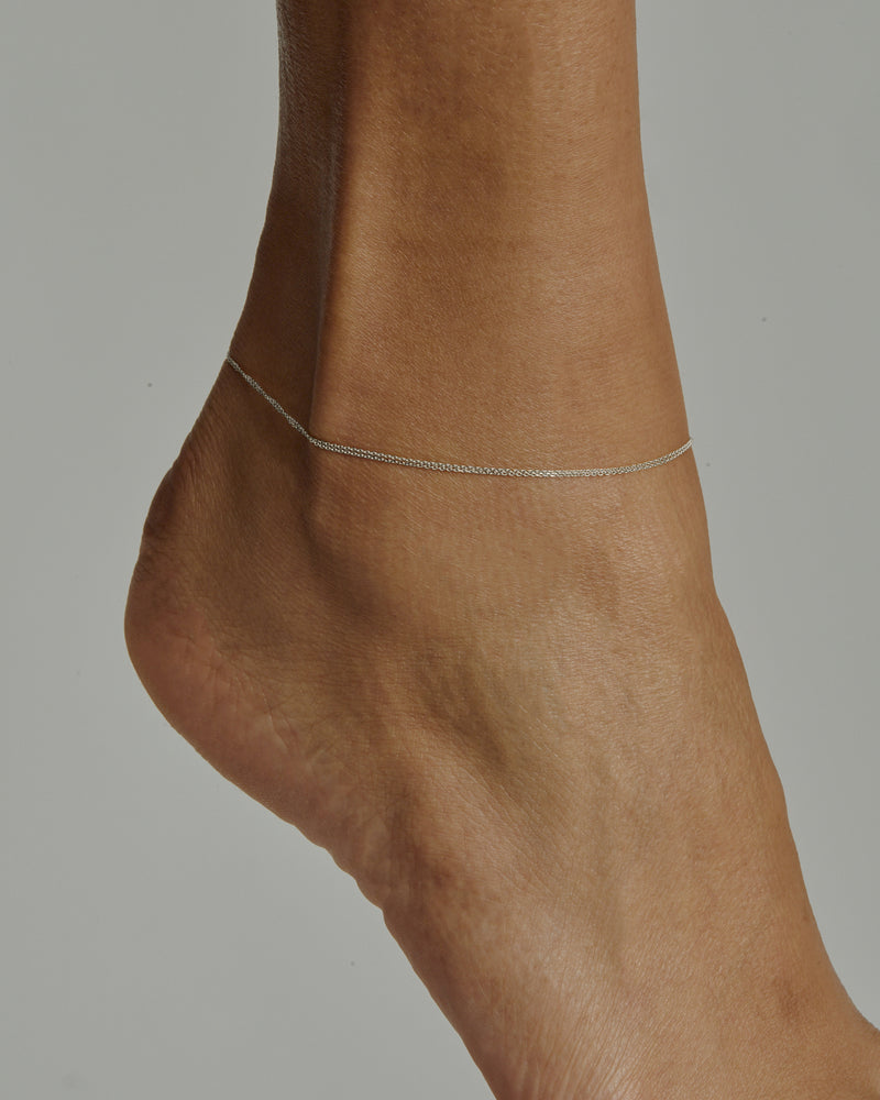 Double Chain Anklet Silver | Sarah & Sebastian onBody
