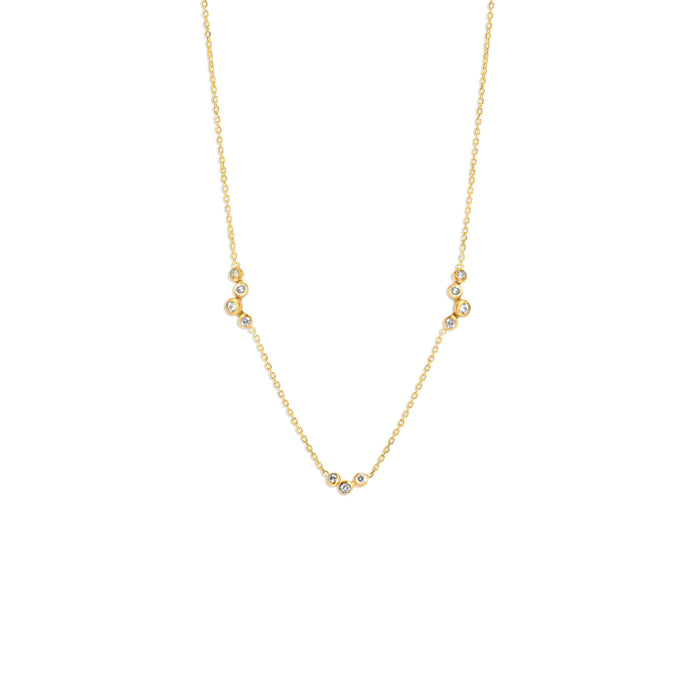 Diamond Fine Chain Eden Necklace Gold | SARAH & SEBASTIAN