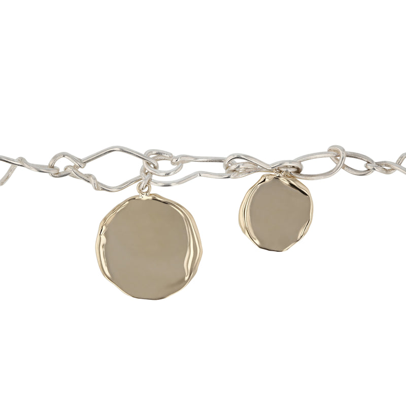 Statement Enmesh Bracelet Mixed Metal | Sarah & Sebastian