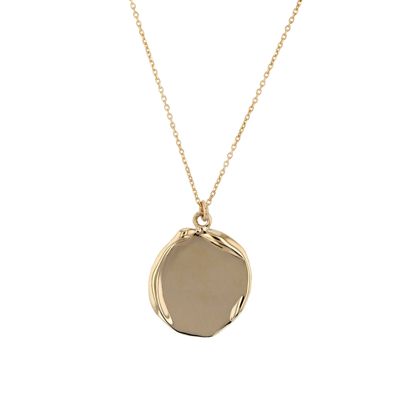 Fine Enmesh Disc Necklace Gold | Sarah & Sebastian