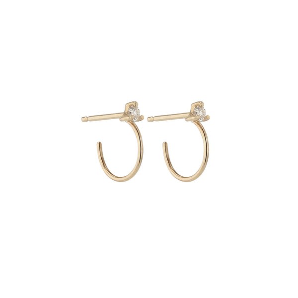 Element Diamond Hoops Yellow Gold | Sarah & Sebastian