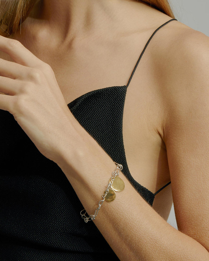 Statement Enmesh Bracelet Mixed Metal | Sarah & Sebastian onBody