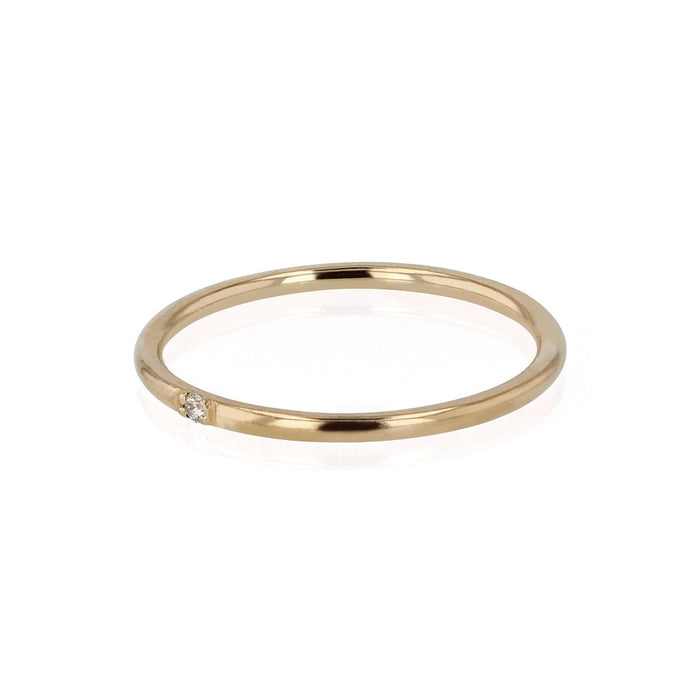 Diamond Fine Band Ring Yellow Gold | SARAH & SEBASTIAN