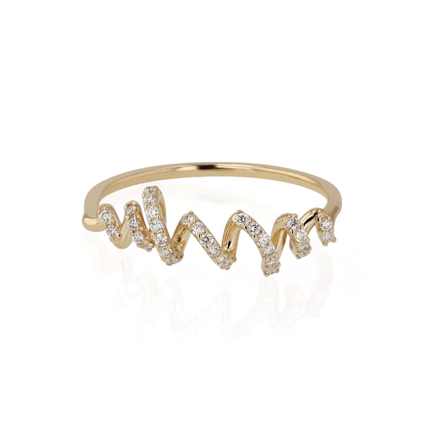 Fine Bound Diamond Ring Yellow Gold | Sarah & Sebastian