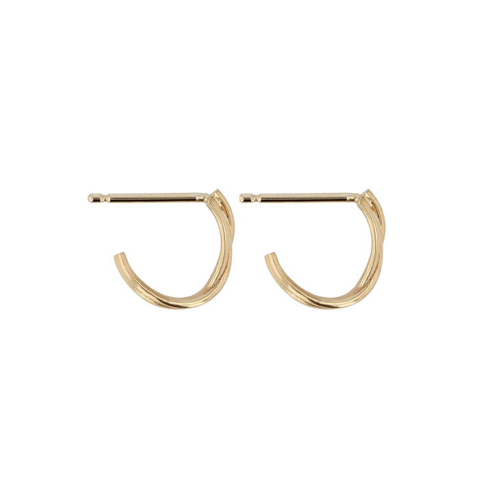 Fine Bound Hoops Yellow Gold | Sarah & Sebastian