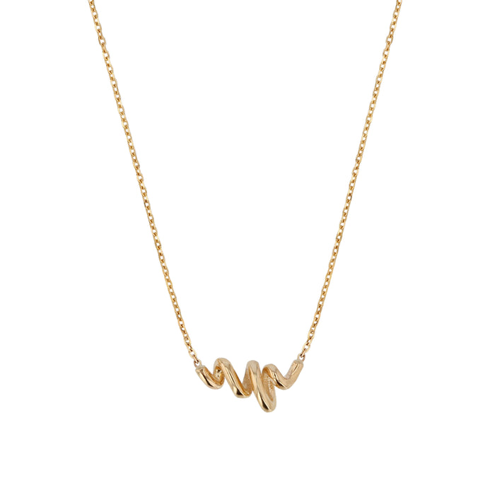 Fine Bound Necklace Yellow Gold | Sarah & Sebastian