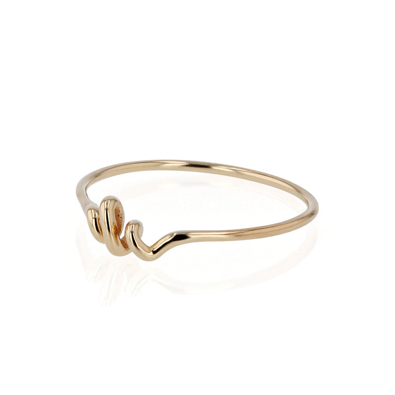 Fine Bound Ring Yellow Gold | Sarah & Sebastian