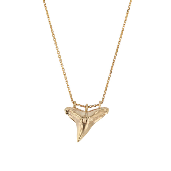 Fine Reef Shark Necklace Gold | Sarah & Sebastian