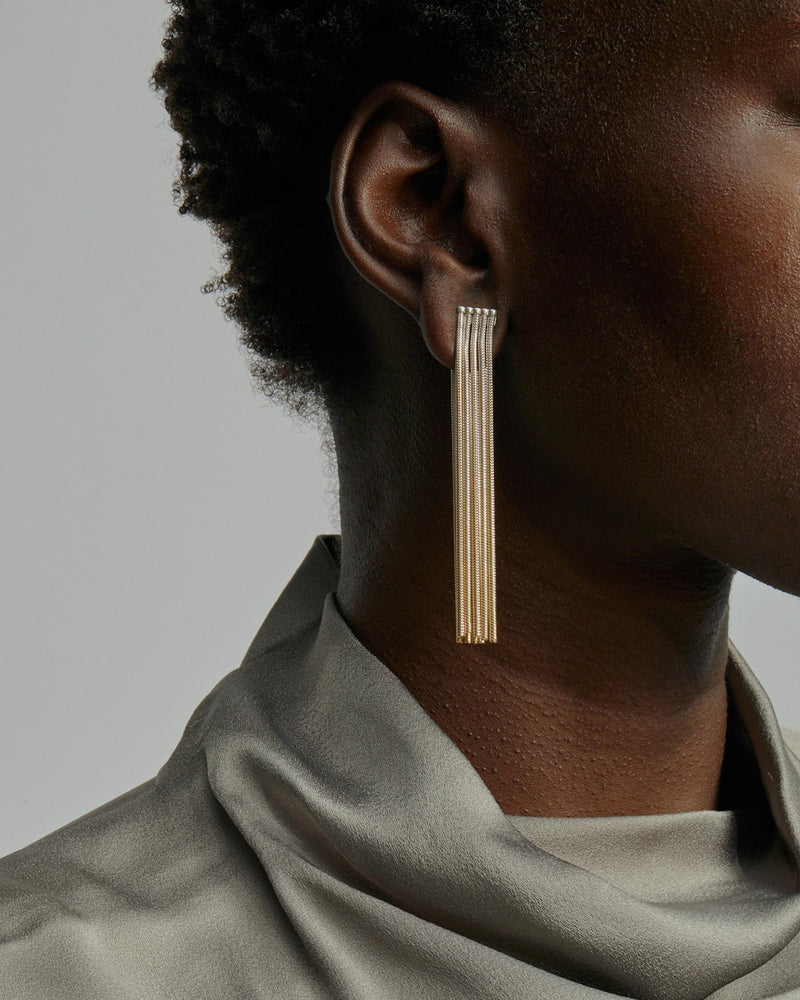 Feeler Chain Earrings Vermeil Ombre | Sarah & Sebastian onBody
