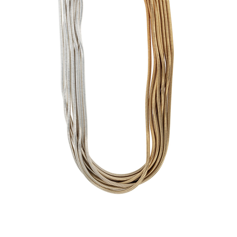 Statement Feeler Necklace Vermeil Ombre | Sarah & Sebastian