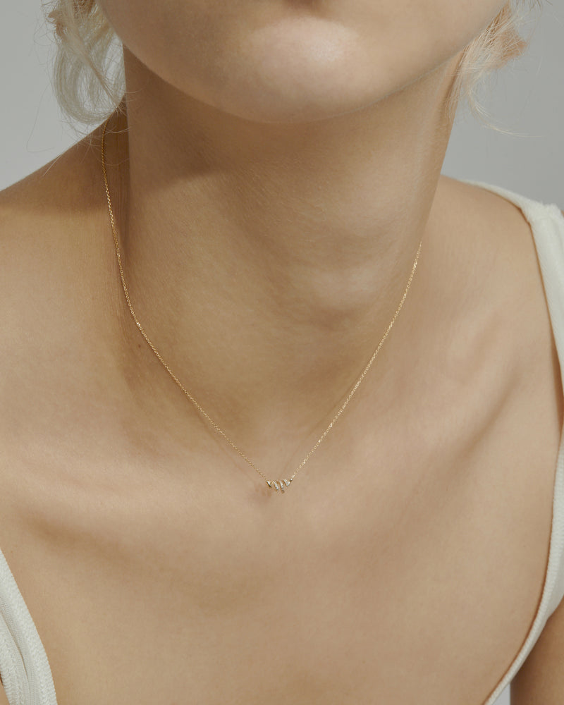 Fine Bound Diamond Necklace Gold | Sarah & Sebastian onBody