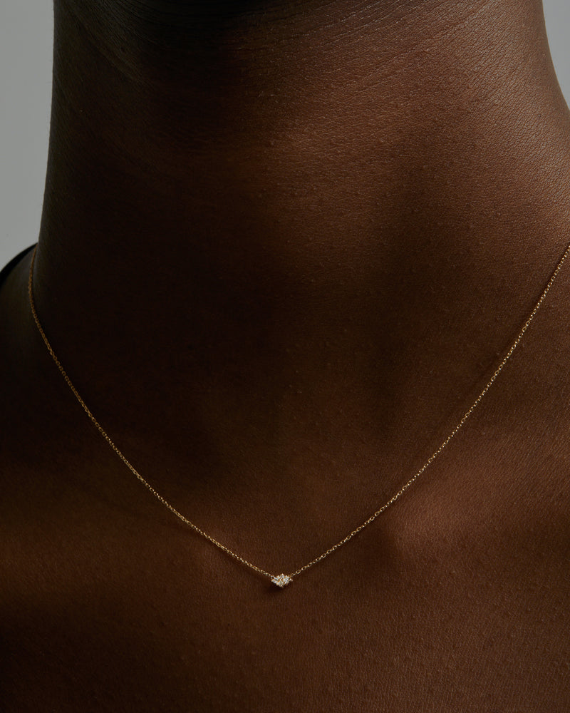 Fine Rhombus Diamond Necklace Gold | Sarah & Sebastian onBody