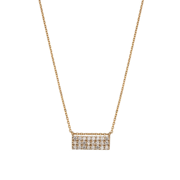 Ice Diamond Necklace Gold | Sarah & Sebastian