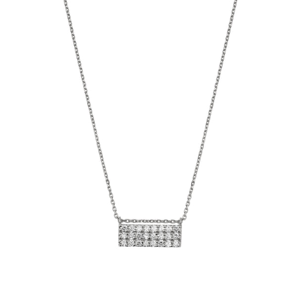 Ice Diamond Necklace White Gold | Sarah & Sebastian