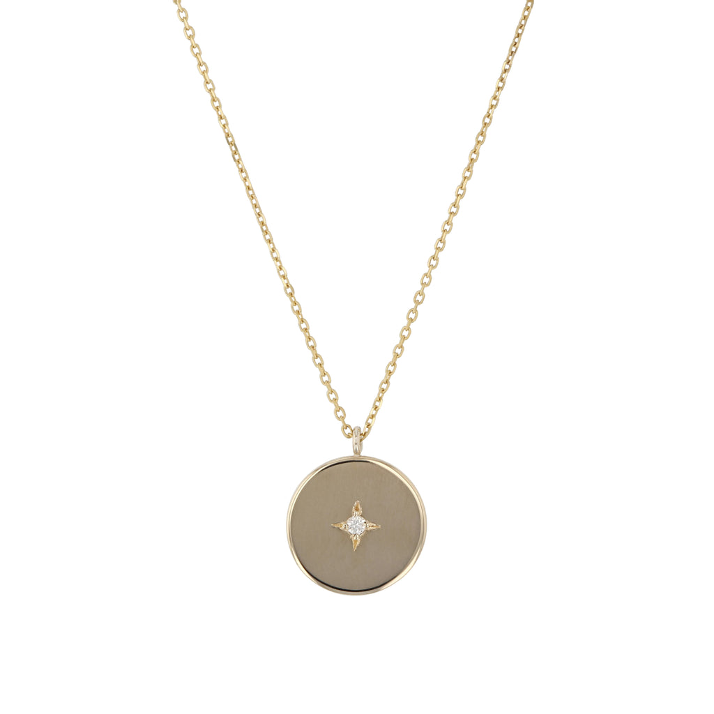 Insignia Diamond Circle Necklace