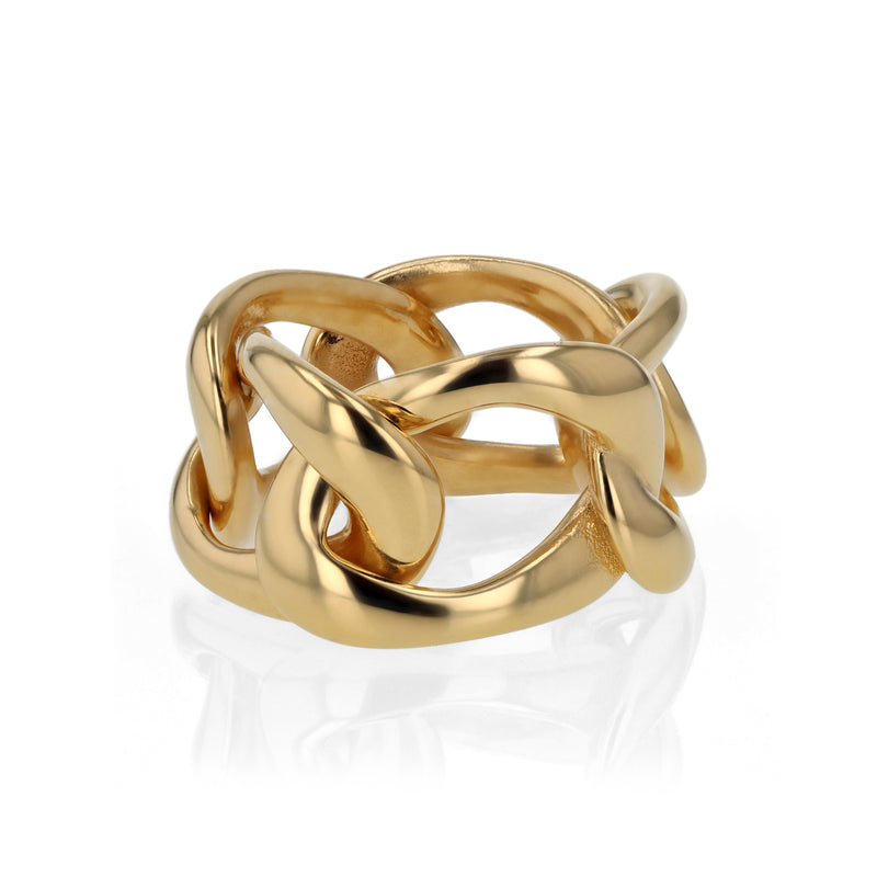 Statement Jelly Chain Ring Vermeil | Sarah & Sebastian