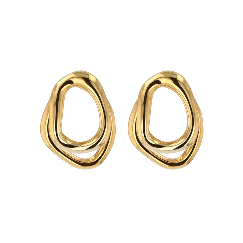 Statement Jelly Double Earrings Gold | Sarah & Sebastian