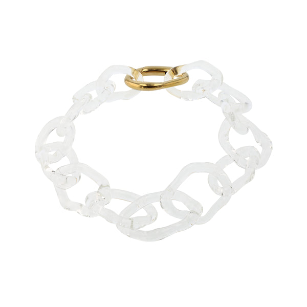 Statement Jelly Glass Chain Vermeil | Sarah & Sebastian
