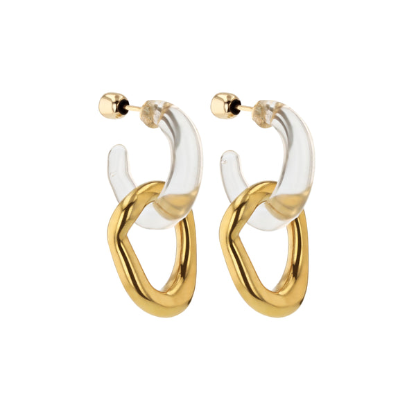Statement Jelly Metal Hoops Vermeil | Sarah & Sebastian