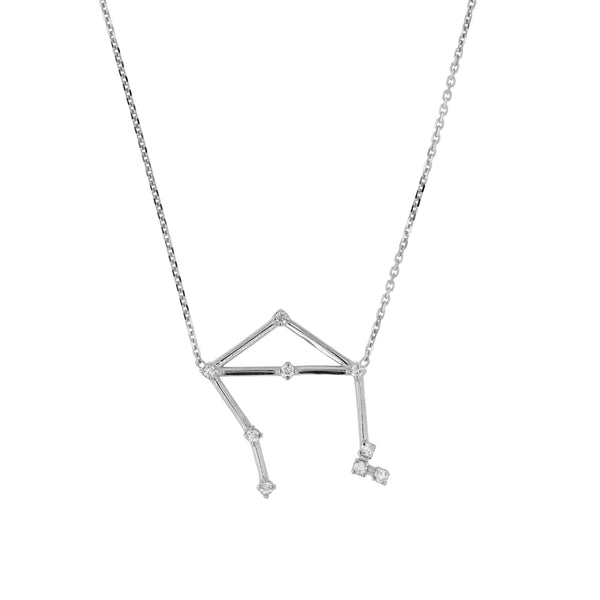 Celestial Libra Necklace White Gold | Sarah & Sebastian