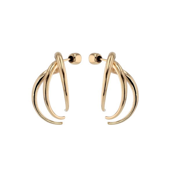 Statement Large Stinger Earrings Gold | Sarah & Sebastian