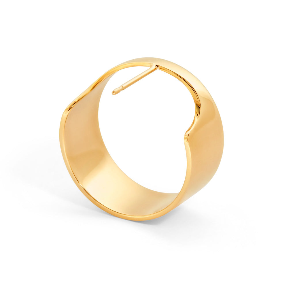 Large Optical Earring (Gold)