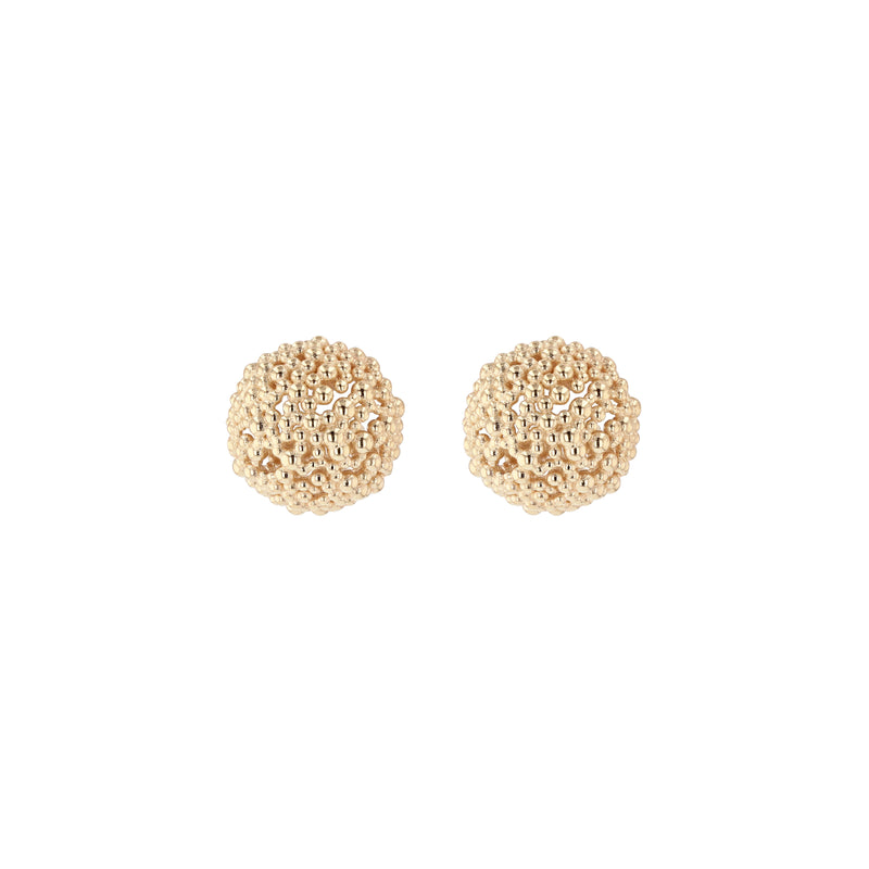 Large Papilla Bead Earrings Gold | Sarah & Sebastian