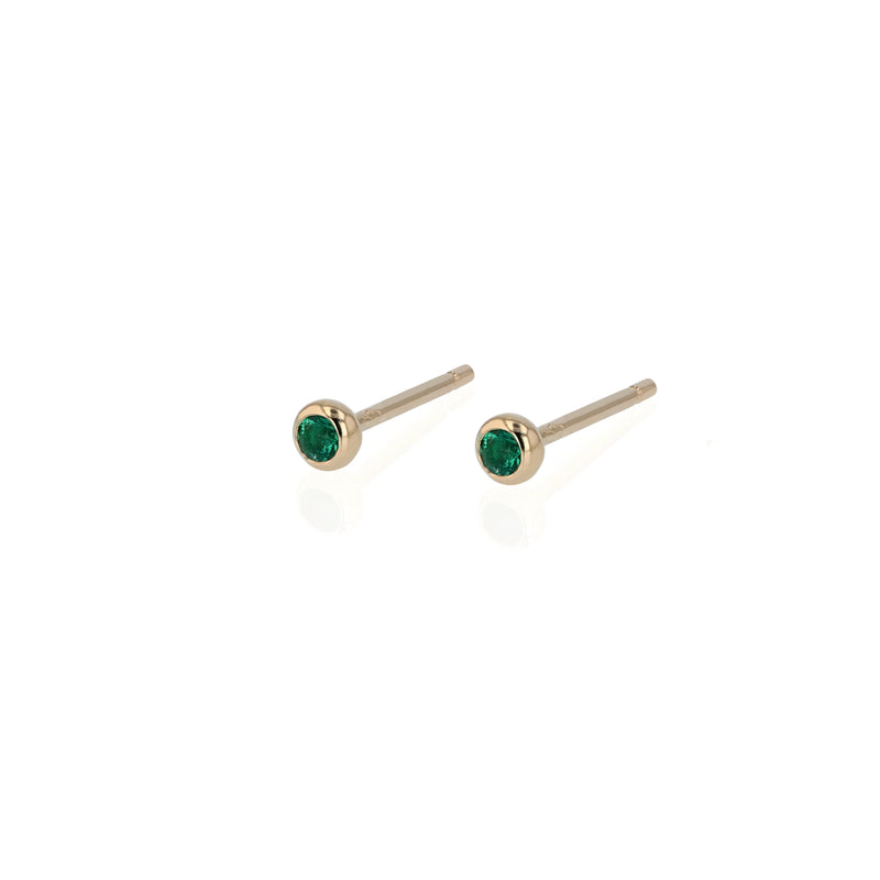 Lunette Emerald Earrings Gold | Sarah & Sebastian