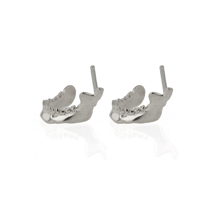 Mandible Stud Earrings Silver | Sarah & Sebastian