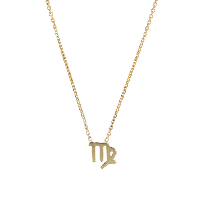 Mens Zodiac Necklace Yellow Gold | SARAH & SEBASTIAN
