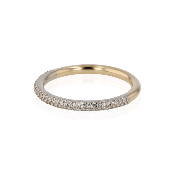 Diamond Monofilament Ring Gold | Sarah & Sebastian