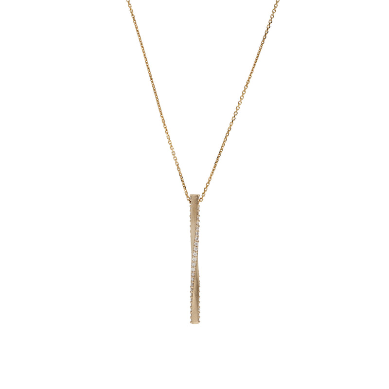 Moebius Diamond Pendant Necklace Gold | Sarah & Sebastian