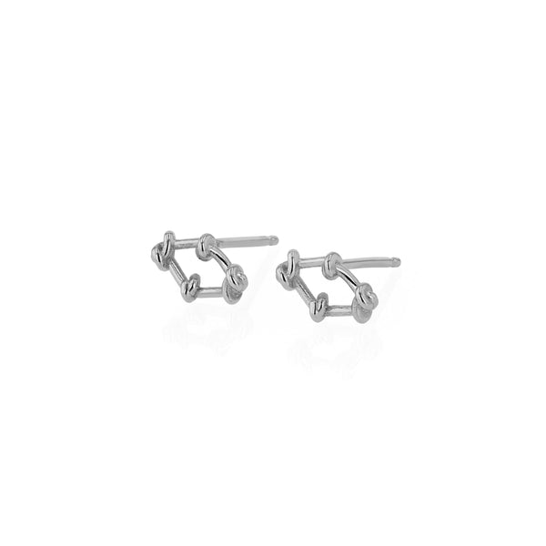 Fine Net Earrings Silver | Sarah & Sebastian