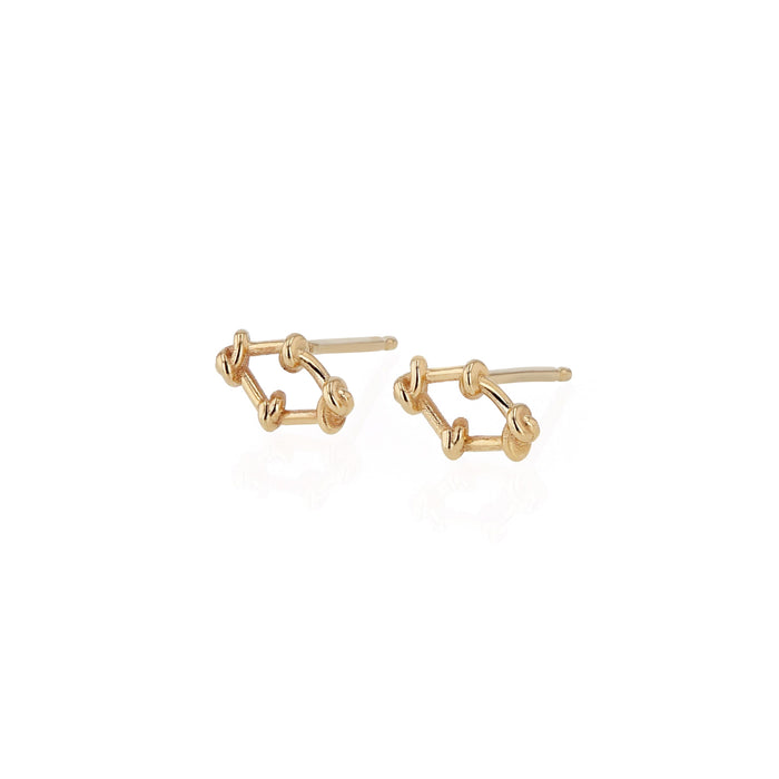 Fine Net Earrings Yellow Gold | Sarah & Sebastian