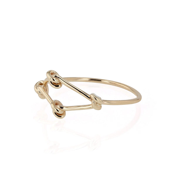 Fine Net Ring Yellow Gold | Sarah & Sebastian