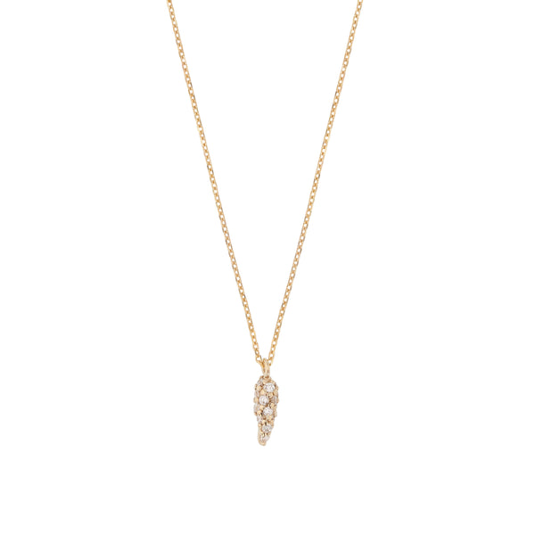 Fine Nudi Diamond Pave Necklace Gold | Sarah & Sebastian